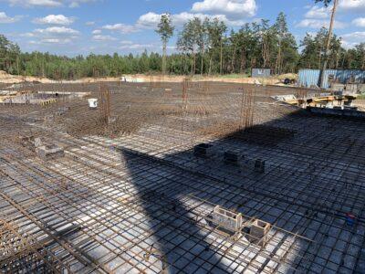 завершено обявзку арматури для залиття бетону